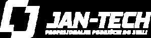Jan-tech logo białe